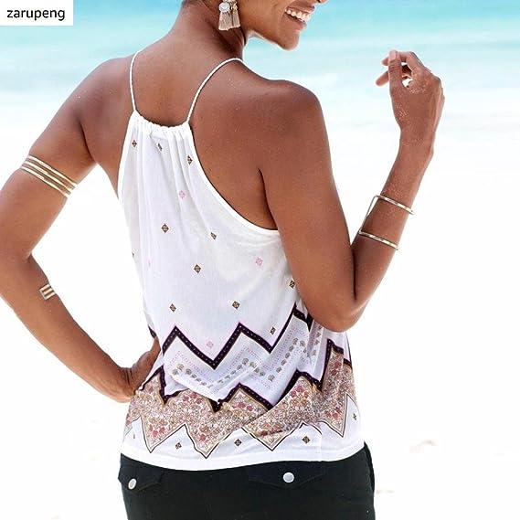 Zarupeng Las Mujeres de la Manera Floja del Verano Camiseta sin Mangas Ocasional del Tanque Blusa Remata el Chaleco: Amazon.es: Ropa y accesorios