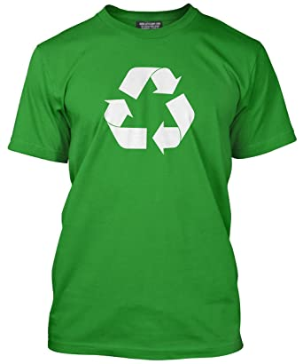 Hotscamp Premium Recycle Recycling Symbol Mens Green T Shirt Amazon
