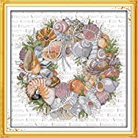 Cher9 Sweet Home Family DIY Handmade Needlework Counted 14CT Printed Cross Stitch Embroidery Kit Set Home Decoration