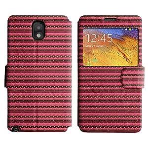 LEOCASE Franja Horizontal De Color Rosa Funda Carcasa Cuero Tapa Case Para Samsung Galaxy Note 3 N9000 No.1000526