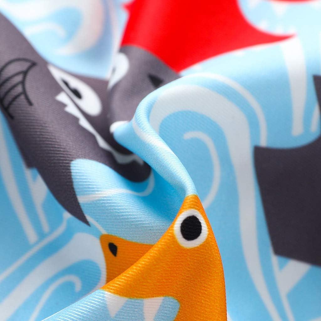 Bosue Swimwear for 3-18 Months Baby Boys Girls Cartoon Strip Print Kids Fashion One Piece Swimsuit Bathing Suit Toddler Bodysuit Pool Beach Holiday Summer Swimming Costume Hidden Zip