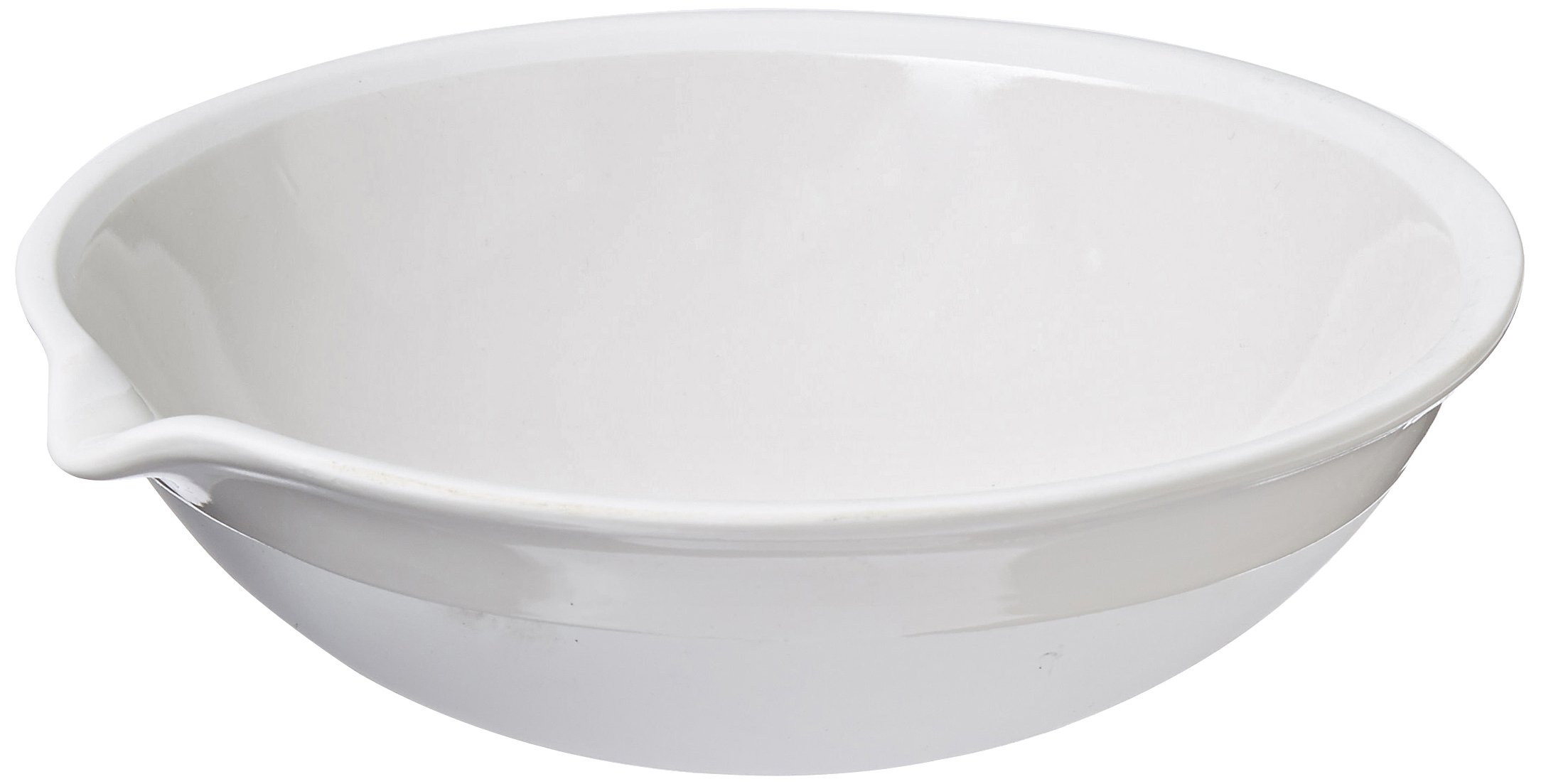 CoorsTek 60205 Porcelain Ceramic Evaporating Dish with Pouring Lip, 525mL Capacity