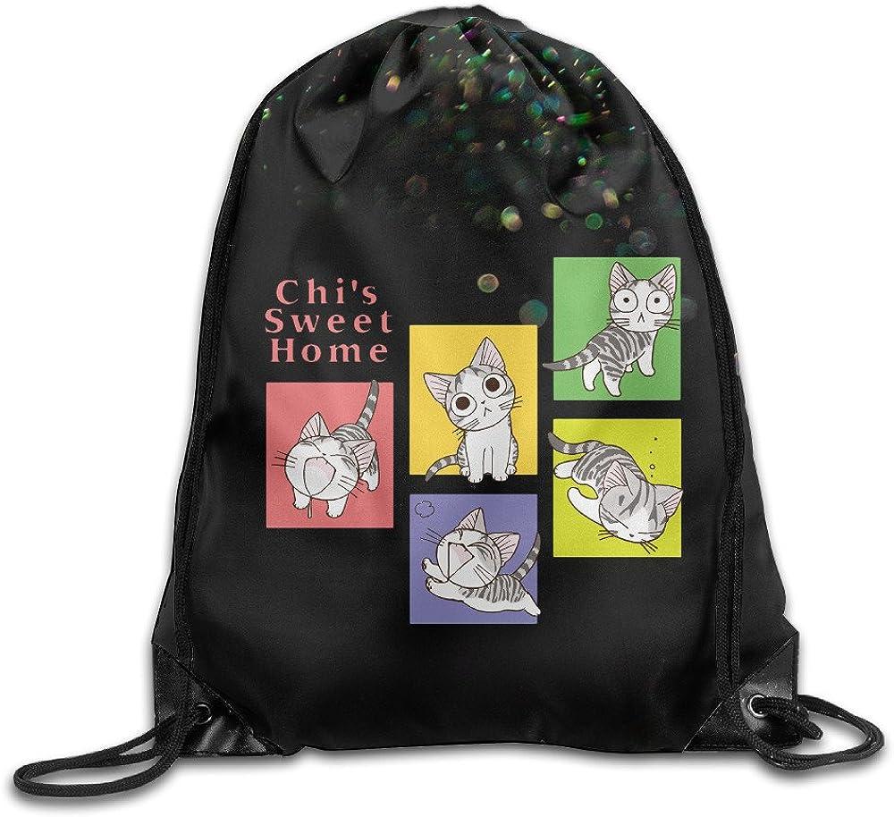 AOLM Backpacks Bags Custom Chi's Sweet Home Animation Sack Bag White