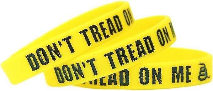 SayitBands 1 Dont Tread on Me Wristband Bracelet Gadsden Flag Design