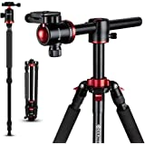 GEEKOTO Camera Tripod, Tripod for Canon Nikon Sony DSLR Camera, 75 inches Aluminum Alloy Tripod with 360 Degree Ball…