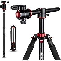 GEEKOTO Camera Tripod, Tripod for Canon Nikon Sony DSLR Camera, 75 inches Aluminum Alloy Tripod with 360 Degree Ball…