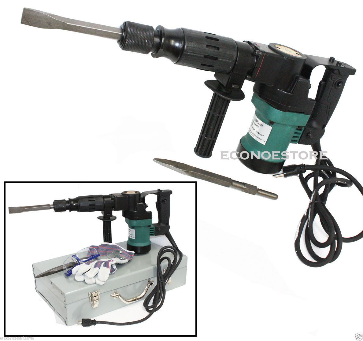 3000BPM 900W 1-1 2 Electric Demolition Hammer Concrete Breaker W Chisels Bits