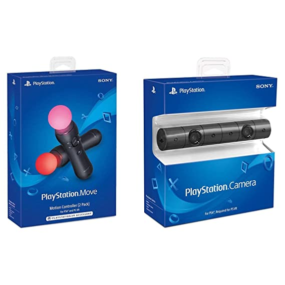 Amazon.com: Sony PlayStation VR PSVR Cámara y 2 Pack Move ...