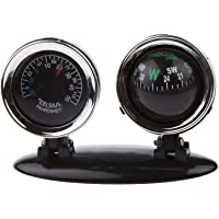 IJARP 2 in 1 Outdoor Travel Car Dashboard Compass Thermometer Boat Truck Bike Vehicles Hiking Hunting Navigation Guide