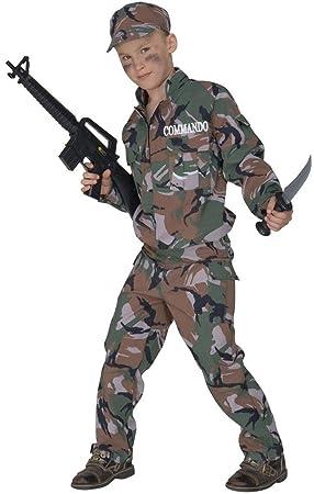 WIDMANN De los niños Soldado F / Traje óptica Pequeño 5-7 años (128cm) para el Ejército Militar Guerra del Vestido de Lujo