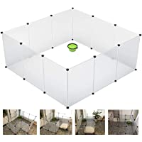 CancoFam Pet Playpen - Large Plastic Portable Yard Fence Cage - Indoor and Outdoor - for Small Animals; Hamsters…