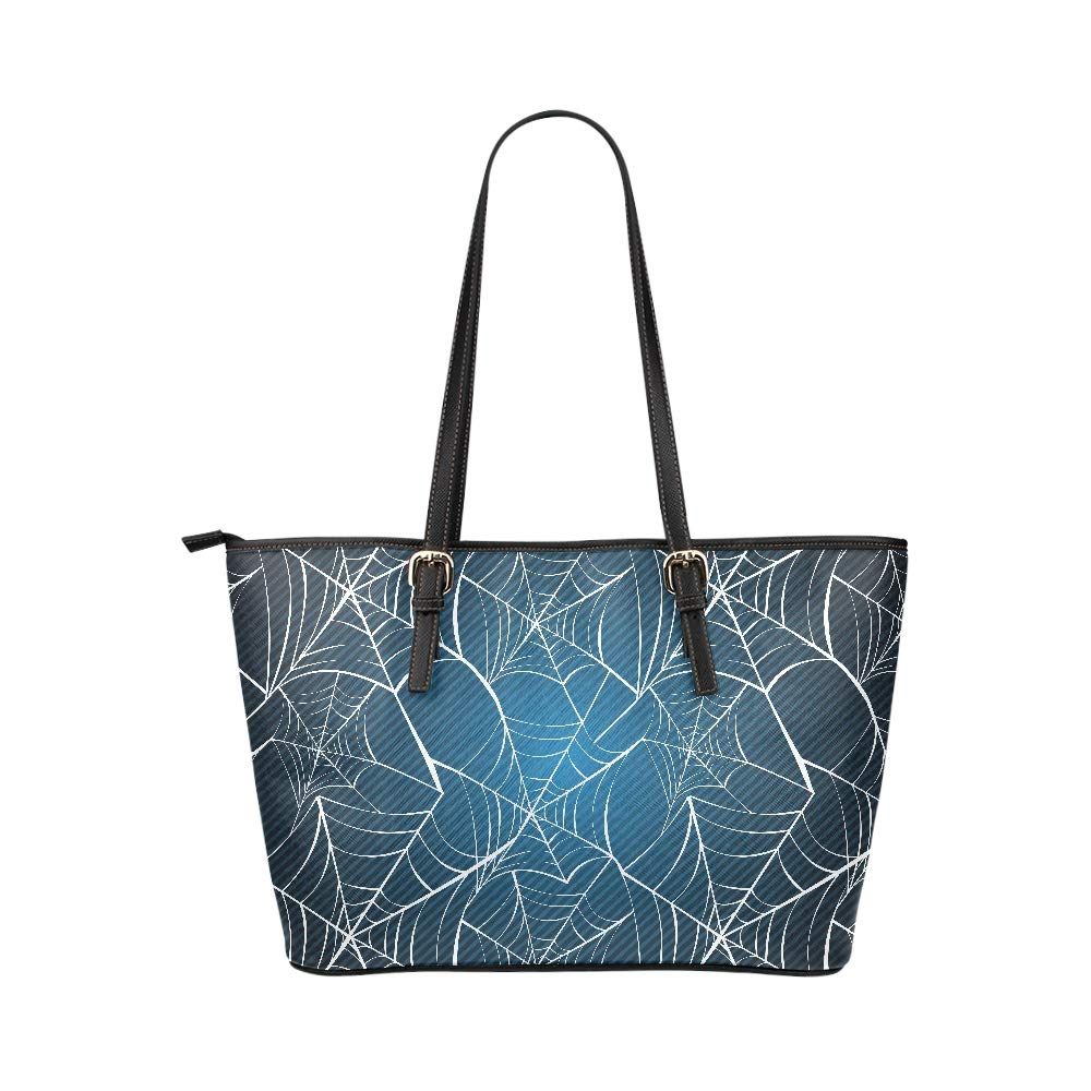 7f9b55db5502 Amazon.com | Halloween Black Grey Spider Web Large Soft Leather ...