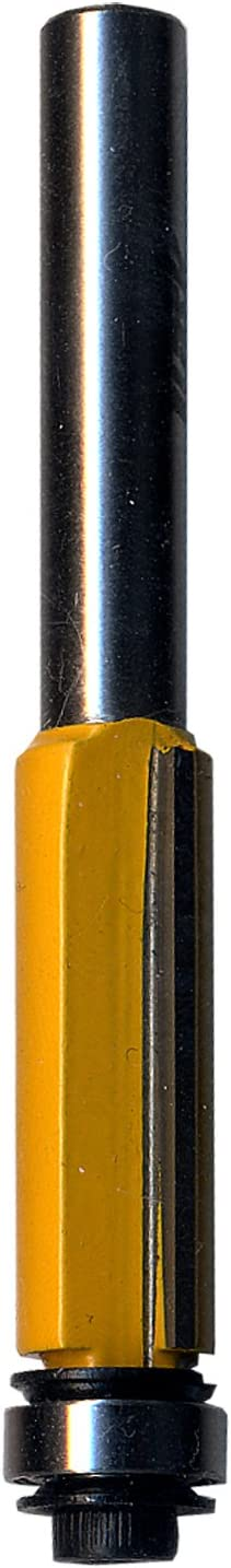 Task Tools T24322 Double Flute Flush Trim Router Bit with 1//4-Inch Shank Task Tools 3//8-Inch Bearing LCM Team 3//8-Inch by 1-Inch Carbide Height