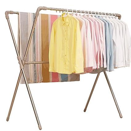54b24dae8e3b Amazon.com: Folding Type Clothes Hanger, Retractable Floor Coat ...