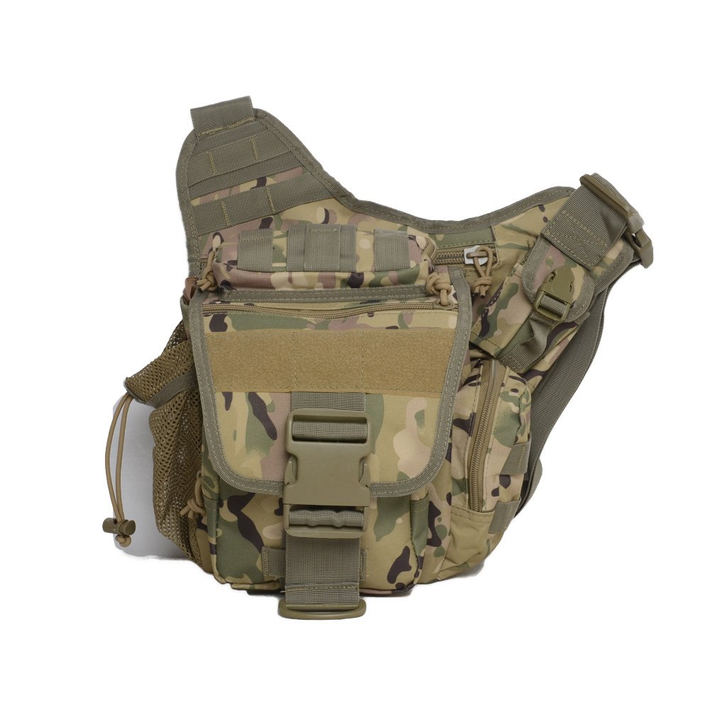Mini Crossbody Molle Pouch Waterproof Camping Hiking Bags Sport Bag Outdoor Military Backpack Durable Rifle Bag (CP)
