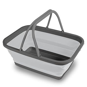 Schüssel Waschschüssel Spülschüssel Korb Einkaufskorb Camping Henkel faltbar Camping & Outdoor Camping-Hygiene