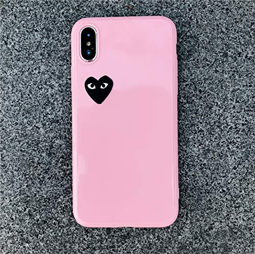 73561344ec Fitted Cases - Cute Love Heart Shape Comme des Garcons Case for iPhone Xs  Max Xr X 8 7 6 6s Plus Glossy CDG Play Soft Silicon TPU Cover Coque - by  LENALE ...