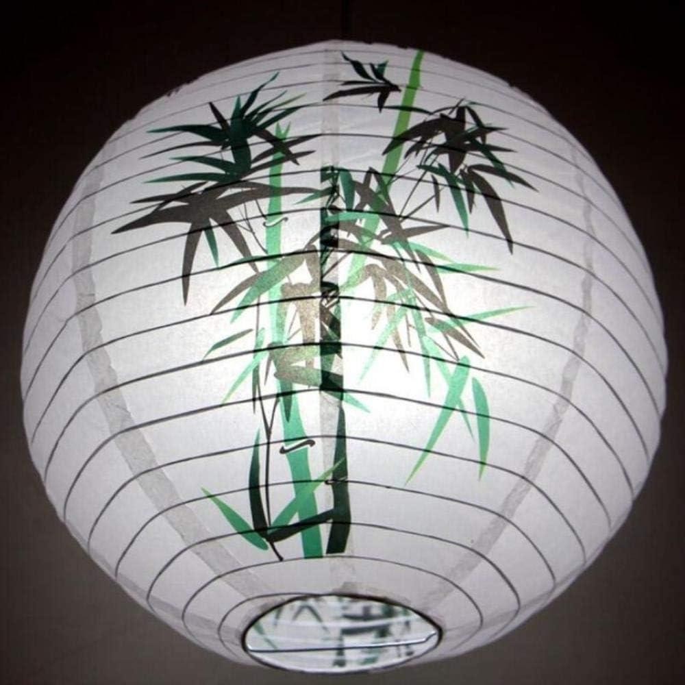 RICHANGCD 2 Pcs//Lot 30 Cm Fleur Papier Lanternes Chinois Japonais Festival R/éTro Papier Lanterne Boules De Mariage F/êTe danniversaire D/éCoration Bambou