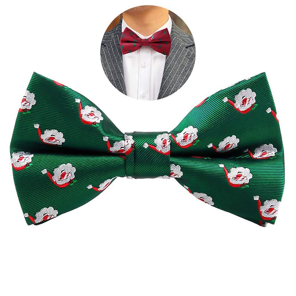 aa4d358c91591 Hilai 1pc Noël pré-attaché Noeud Papillon réglable Bowties Père Noël Bowtie  Vacances Costume Cravate pour Hommes et garçons (Noir): Amazon.fr: Cuisine  & ...