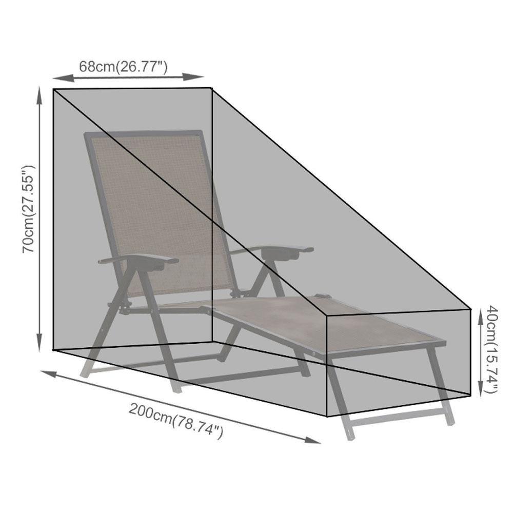 KOBWA Sdraio Covers Chaise Lounge Covers Outdoor Covers Sedia Sdraio Copertura Impermeabile Copertura per mobili da Giardino Esterno
