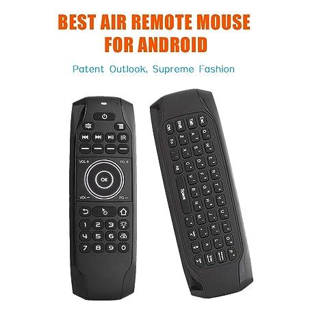 8d86c432ebd Air Mouse, STRQUA Air Remote Mouse G7 Backlit, 2.4G Wireless Kodi Remote  Control