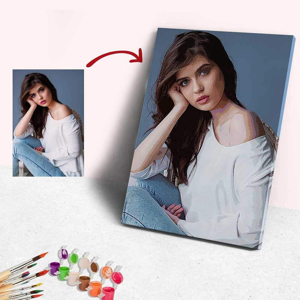Amazon Com Custom Paint By Numbers For Adults Kids Personalized Photo Oil Painting With Your Own Picture Diy Digital Paint By Numbers Kits For Home Wall Decor