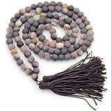 8mm Zipao Stone Beads Tibetan Buddhist Prayer Meditation Mala Rosary