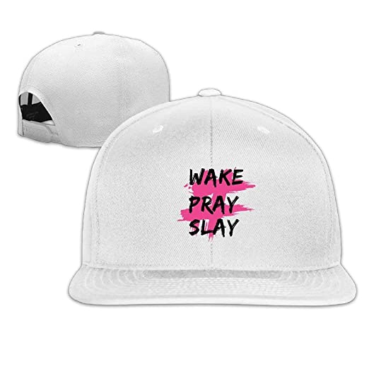 Amazon.com  Mallory Tianpu Wake Pray Slay Logo Baseball Cap of Hat ... a4cf258e551