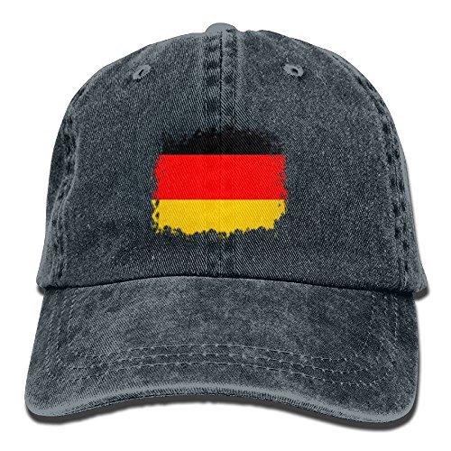 Adult Vintage Baseball Costumes (JD-JIA Denim Baseball Caps Flag Of German Adult Vintage Washed Cotton Sport Outdoor Sports Hats)