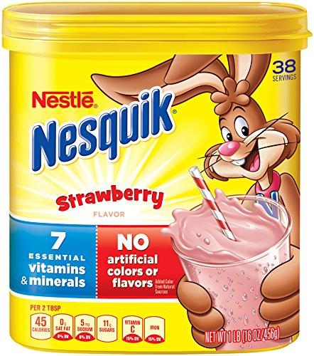 Nesquik Milk Shake Powder, Strawberry, 16 Ounce ()