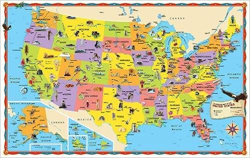 Rand McNally Kids Illustrated Wall Map Of The US Rand McNally And - Amazon us map