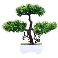 Simulierte Eingemachte Grüne Pflanze Bonsai Künstliche Pflanzen Simulierte Begrüßen Kiefer Bonsai Hause Kunststoff Desktop Dekoration Innendekoration Grüne Pflanze Topf Decor Garten Hof Outdoor Indoor