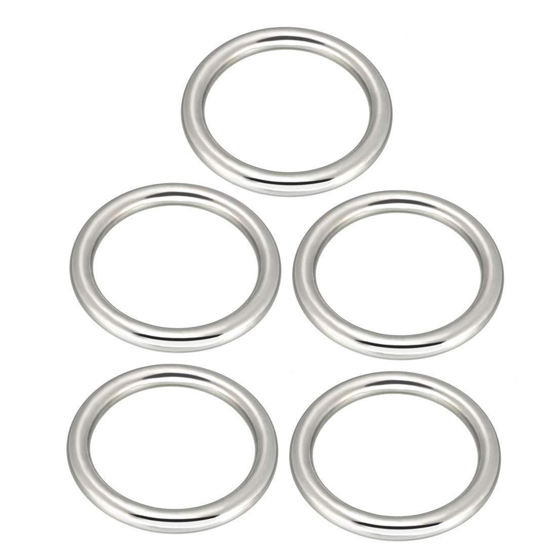 sourcing map 5 St/ück Metall O Ring 60mm x 50mm x 5mm f/ür Hardware Taschen Ring DIY Zubeh/ör de