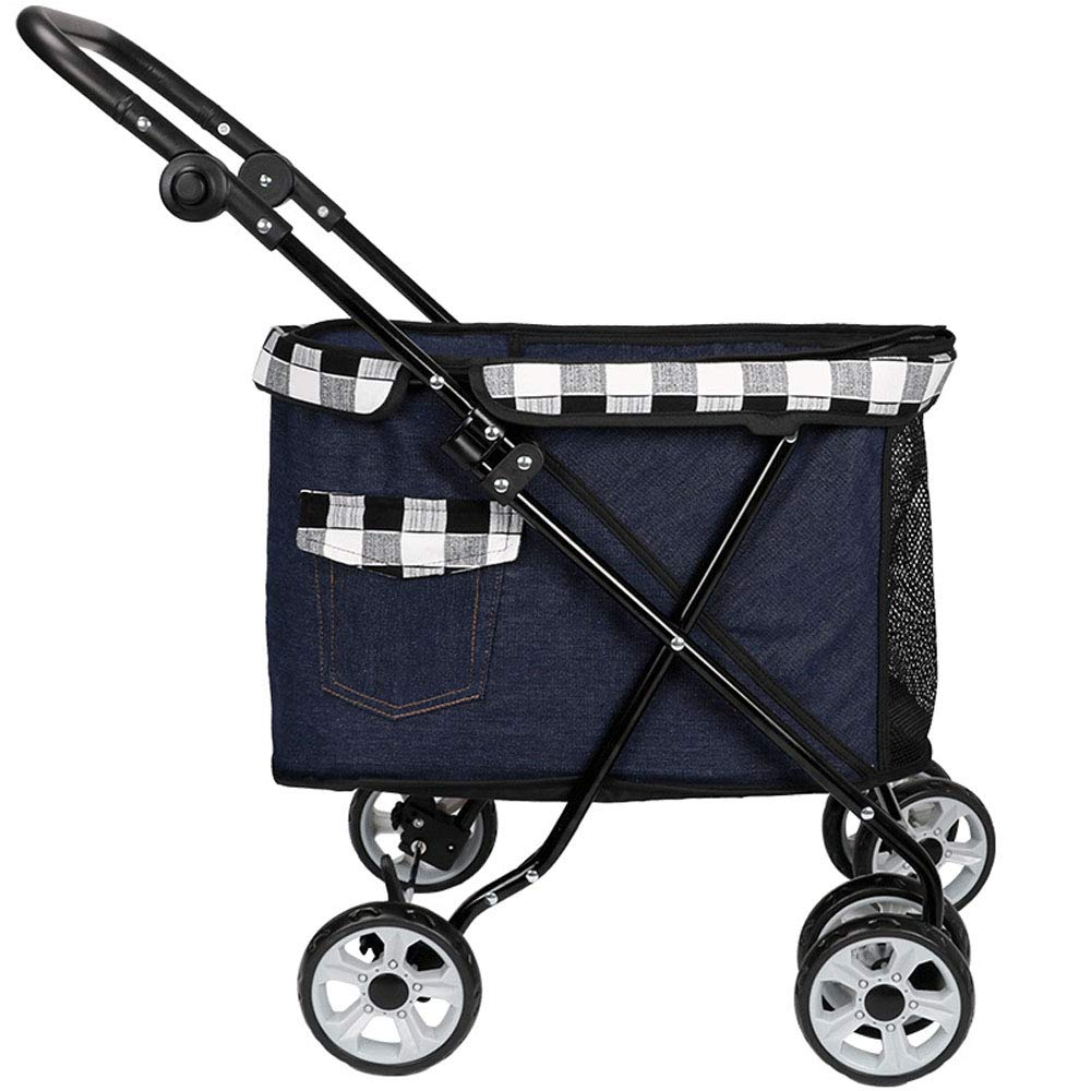 A Pet Stroller, Portable Small Pet Car Cat and Dog Cart Foldable,A