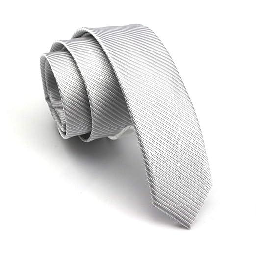 YXN Camisa de Trabajo Casual de Hombre, Corbata, 5 cm, Corbata ...