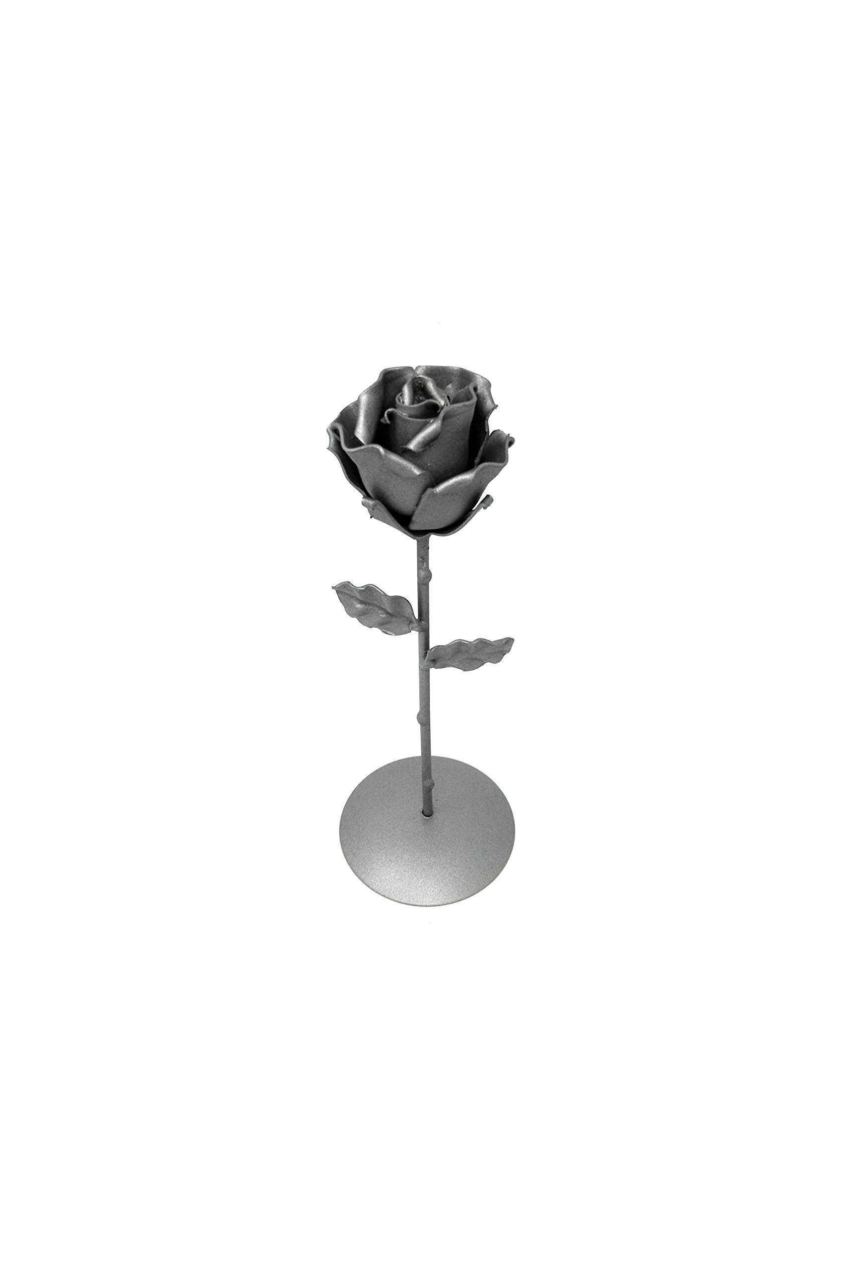 -Eternal-Rose-Hand-Forged-Wrought-Iron-Gray-with-BaseIdeal-gift-Valentines-Day-Girlfriend-Mothers-Day-Couple-Birthday-Christmas-Wedding-Day-Anniversary-Decor