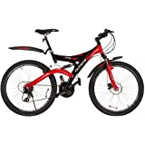 Hero 26T Octane DTB Cycle with Disc Brake, Size 26 (Black/Red)