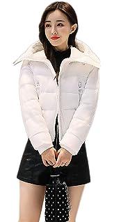 591d7ae801 Doudoune Manteau Femme Mode Hiver Gaine A Capuche Uni Manche avec Fermeture  Éclair Manches Longues Poches