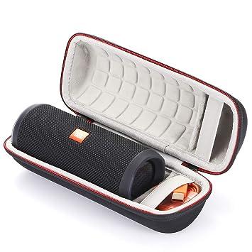 Estuche rígido para JBL Flip 4 / JBL Flip 3 Altavoz inalámbrico Bluetooth, Bolsa de Almacenamiento con Bolsa de Viaje. Se Adapta al Cable USB y al ...