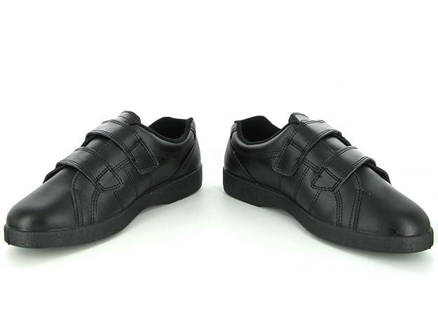 82c6e56149e Boulevard Shuperb NAPOLI Ladies Velcro Wide E Fit Leather Shoes Black   Amazon.co.uk  Shoes   Bags