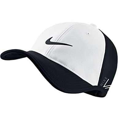 Nike New Ultralight Tour RZN Vapor Adjustable White Black Hat Cap   Amazon.in  Clothing   Accessories 3dcd36acf65