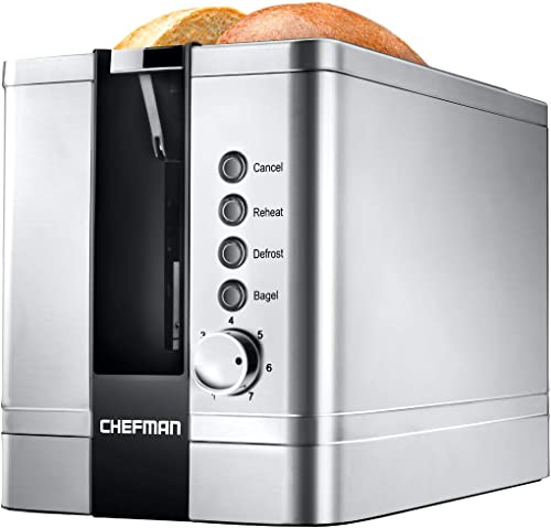 Chefman 2-Slice Pop-Up Stainless Steel Toaster