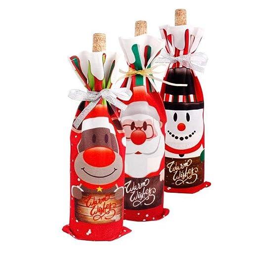 Vektenxi 3 bolsas creativas para botellas de vino de Navidad ...