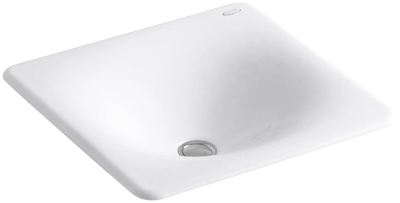 Kohler K 2827 0 Iron Tones Cast Iron Bathroom Sink White Bathroom Sinks Amazon Com