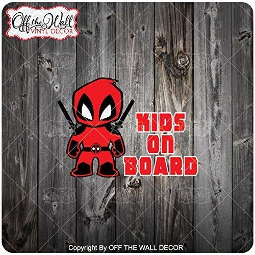 "Little Deadpool /""Kids on Board/"" Sign Vinyl Car//Truck//Decal Sticker FREE SHIPPING"