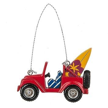 Midwest-CBK rojo Jeep con adorno de Navidad de tablas de surf: Amazon.es: Hogar