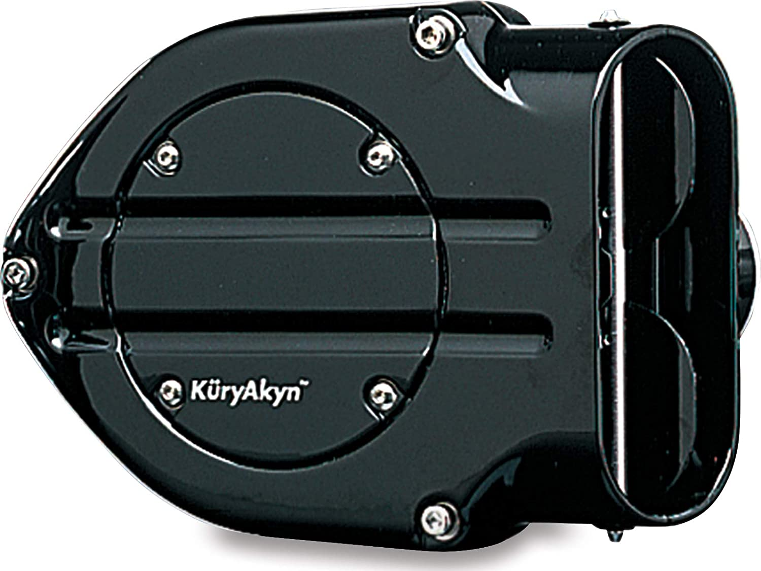 Kuryakyn 9874 Hypercharger Air Cleaner/Filter with Blood Groove Design Trap Door for 2007-19 Harley-Davidson Motorcycles, Gloss Black