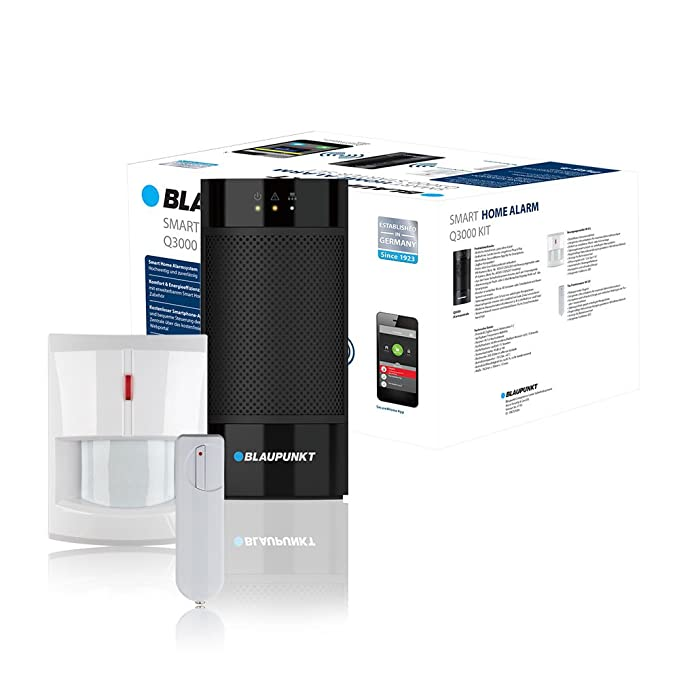 Blaupunkt Q3000 Sistema de Alarma de Seguridad - Sistemas de Alarma de Seguridad (Negro, Color Blanco, Sensor de Infrarrojos, 433/868, Nickel-Metal Hydride ...