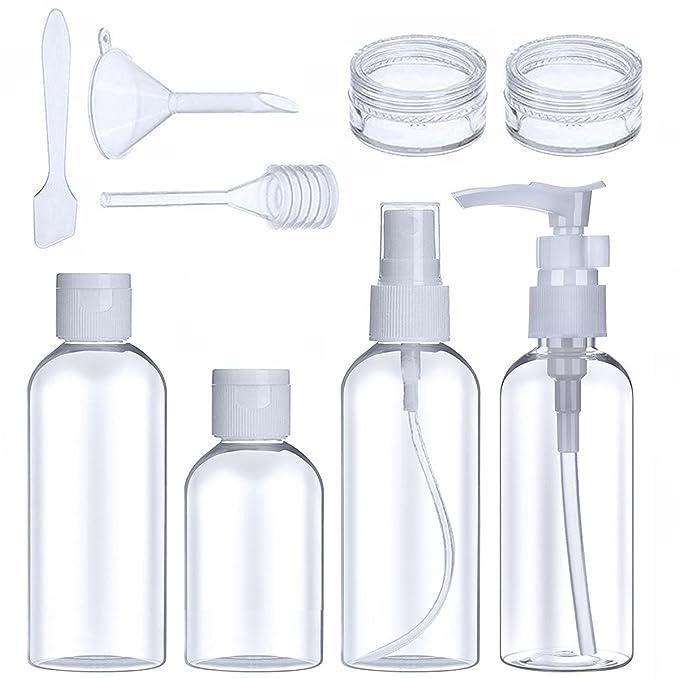 Reise Flaschen Set Reise Flaschen Kosmetikflaschen Set Tragbar Reiseflasche Multi-Size-Container Kulturbeutel Transparente Tr