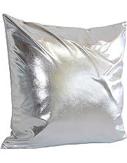 45cm*45cm Pillow Case, HUHU833 Simple Solid Cushion Cover Throw Sofa Home Decor (Silver)